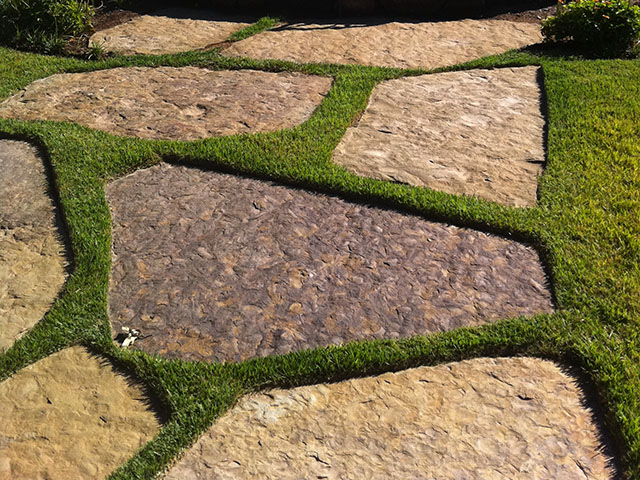 pavers and inlaid stone