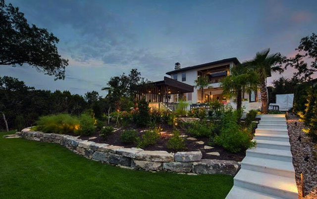 landscpae lighting adds security to your home