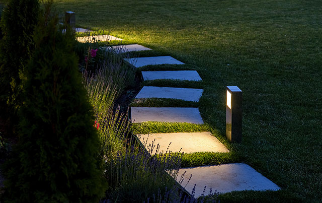 professional landscape lighting installation